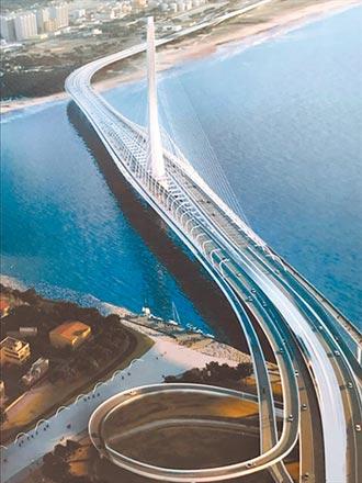 淡江大橋放煙火 打造國際地標