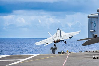 雷根號逗留東沙海域 防陸偷襲台