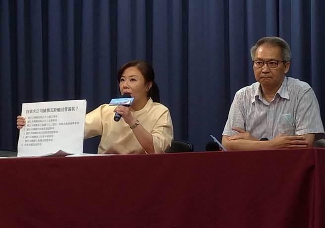 李彥秀(左)、王任賢開記者會。(黃福其攝)