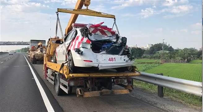 大貨車陸姓司機疲勞駕駛,撞死2員警及1司機。(中時資料庫)