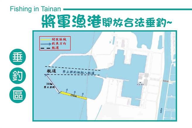 台南將軍漁港開放釣魚區。(台南市農業局提供/劉秀芬台南傳真)
