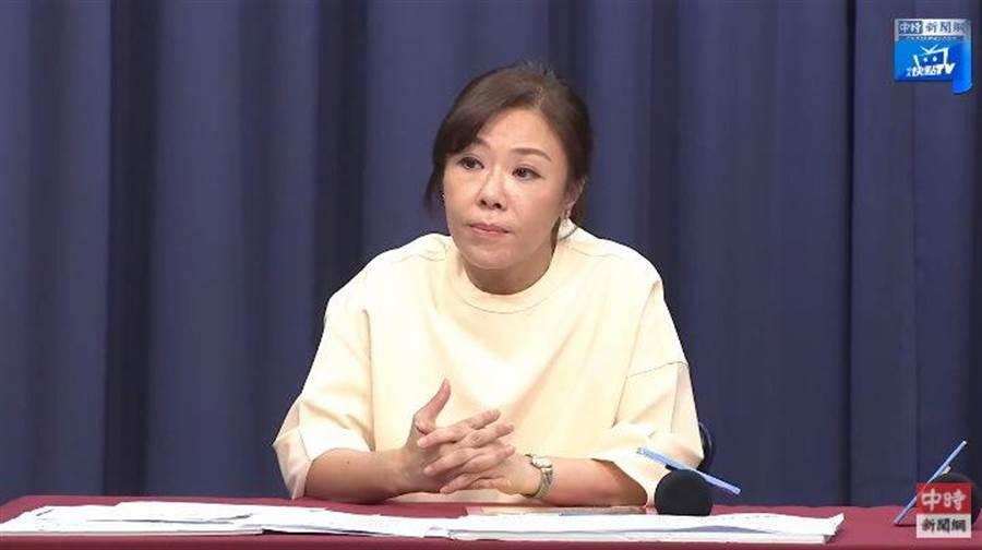 國民黨副秘書長李彥秀。(擷取自中時電子報直播)
