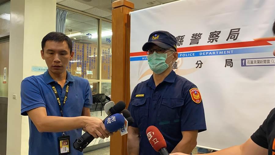 花蓮警分局初步調查,黎男開槍動機疑似感情糾紛談判不成,槍枝來源及為何帶槍去談判,仍在釐清。(羅亦晽攝)