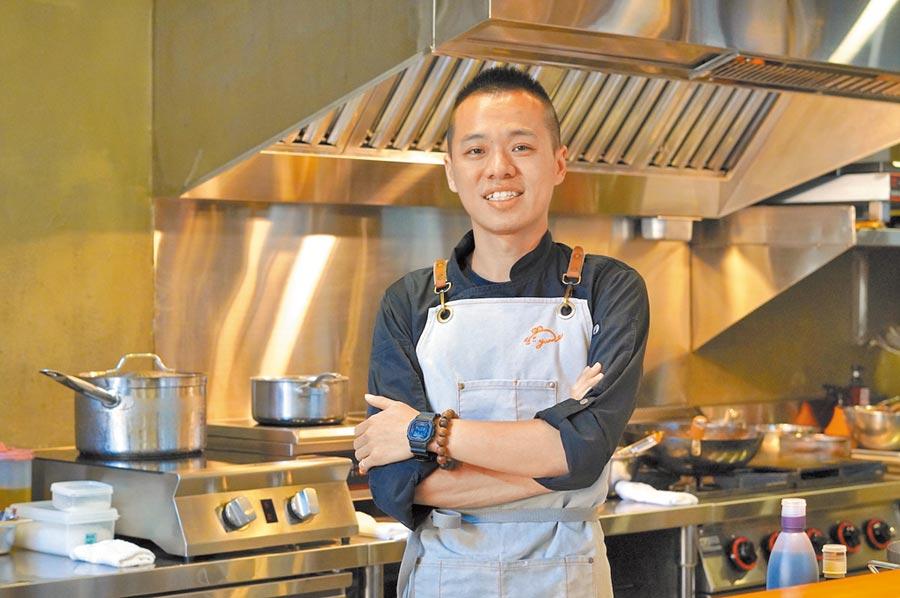 「元 Yuan」主廚蕭淳元。(何書青攝)