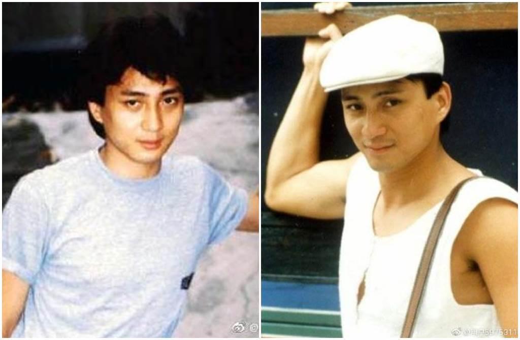 昔「TVB五虎將」湯鎮業,當時外表被譽為「帥過劉德華」。(圖/微博)