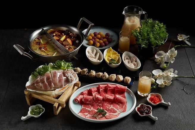 麗寶Outlet新這一鍋推「七夕御膳」 雙人套餐。(麗寶樂園渡假區提供/陳淑娥台中傳真)