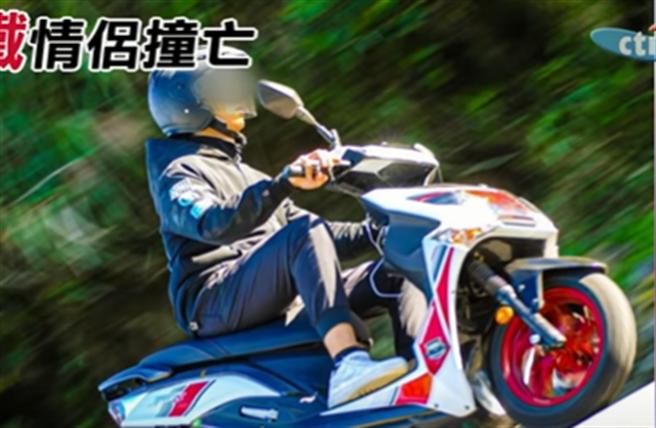 黃姓男騎士在生前相當喜歡騎車,臉書頭貼更是與愛車的合照。(圖/翻攝中天新聞)