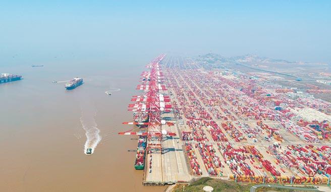 上海自貿區臨港新片區的洋山特殊綜合保稅區。(新華社資料照片)