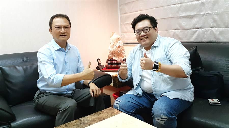 理財周刊發行人洪寶山(左)、陳飛龍(右)。(圖/理財周刊提供)