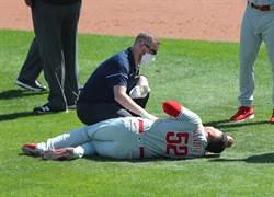 MLB》強襲球爆蛋 費城人投手傳球後不支倒地