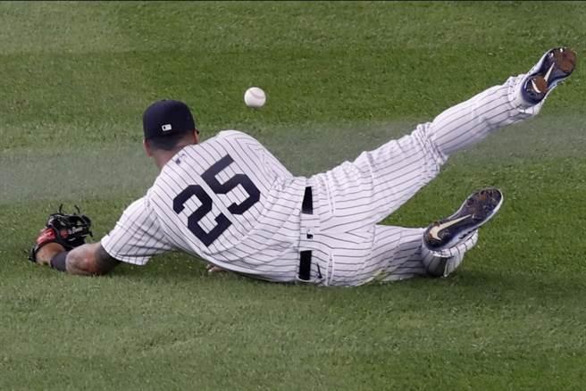洋基內野手托瑞斯被診斷左大腿一級拉傷,進入傷兵名單。(美聯社資料照)