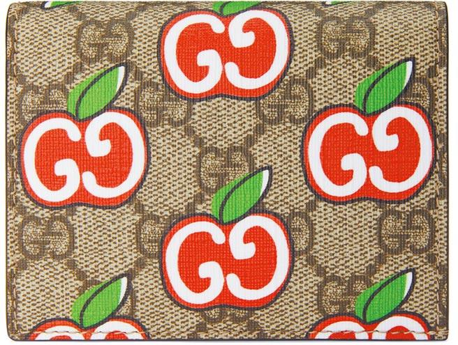 Gucci雙G蘋果印花卡夾,1萬2000元。(Gucci提供)