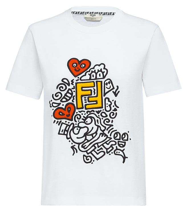 Fendi X Mr.Doodle聯名系列上衣,2萬1600元。(Fendi提供)