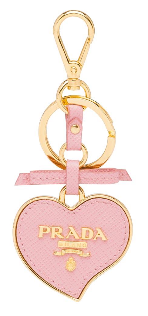 Saffiano皮革愛心鑰匙圈,1萬500元。(Prada提供)