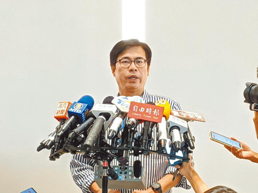 高雄巿長補選當選人陳其邁21日揭曉他的小內閣名單。(曹明正攝)