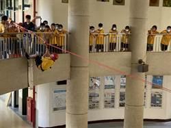 新科國中新生訓練攀岩走繩樣樣來