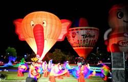 熱氣球光雕音樂會點亮森林公園 4萬人共享聲光盛宴