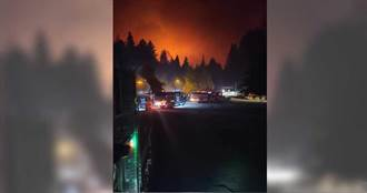 加州野火肆虐燒毀數百棟建築釀至少6死 雷擊來襲加劇大火蔓延