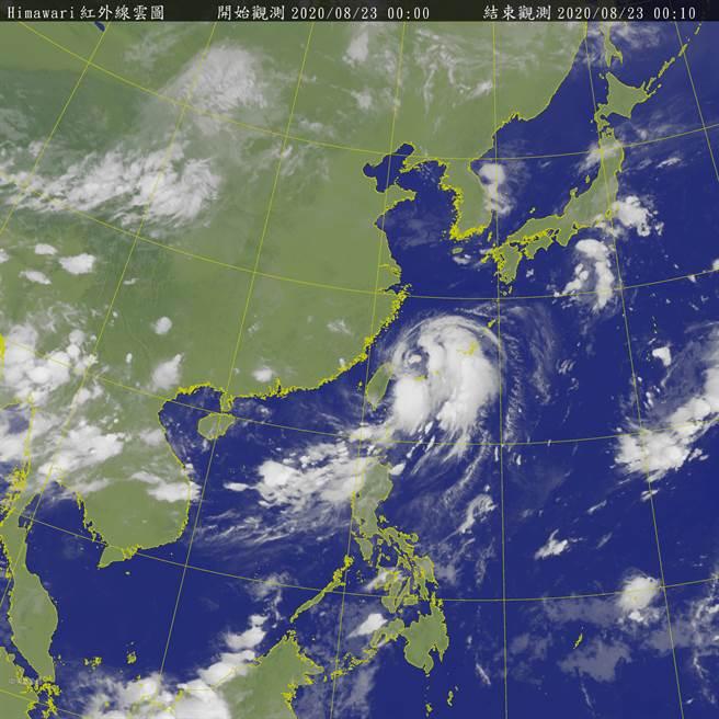 巴威颱風遠離,氣象局22日晚間11點30分解除海上警報 (圖/中央氣象局)