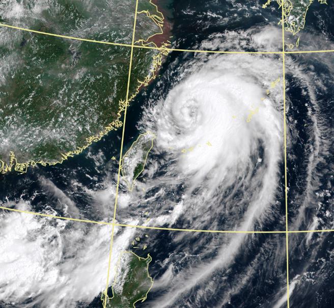 圖為巴威颱風衛星雲圖。(中央氣象局)