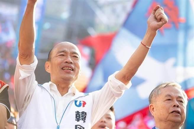 前高雄市長韓國瑜(中)。(圖/中時資料照)