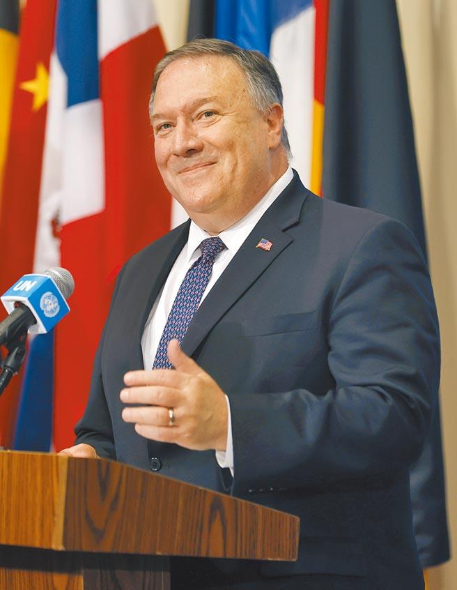 美国国务卿蓬佩奥21日表示,由于涉及国家安全利益,美国将继续保持对中国大陆的强硬立场,但川普政府仍愿意与北京对话。(美联社)