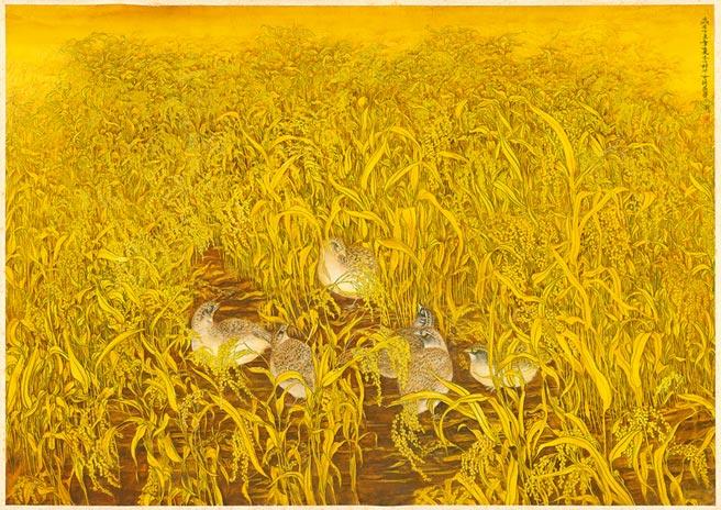 《梦(三)》,林淑女,纸本设色,78×109 cm,1997年。图片提供/林淑女