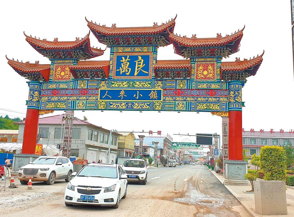 吉林省撫松縣萬良鎮素有「人參小鎮」之稱。(記者藍孝威攝)
