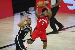 NBA》暴龍晉級在望 羅瑞左腳踝扭傷退場