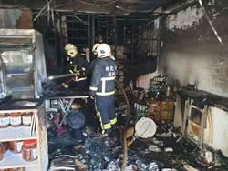 新北金山檳榔攤傳大火 牆面燒焦黑 1鄰居嗆傷送醫