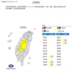 下班小心雨彈 氣象局發布5縣市大雨特報