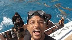 威爾史密斯「恐海症」口吃  為節目下海摸鯊魚