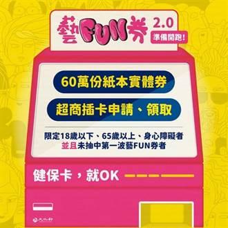 600元「紙本藝FUN券」符合3資格可申請 中籤率曝光
