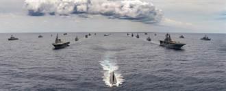 環太平洋軍演現場照曝光 10國22艦艇霸氣合體