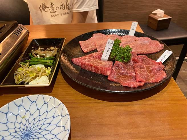 俺達肉舖是日本全和牛燒肉料理為主,對於牛的熟成,分切及醬料都有不同於市場的獨家料理。(馮惠宜攝)