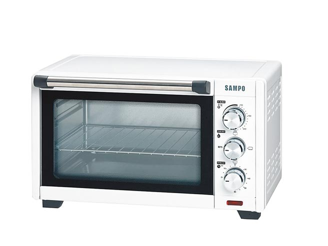 全國電子的聲寶20L雙層耐熱玻璃烤箱,原價1888元,特價1488元。(全國電子提供)