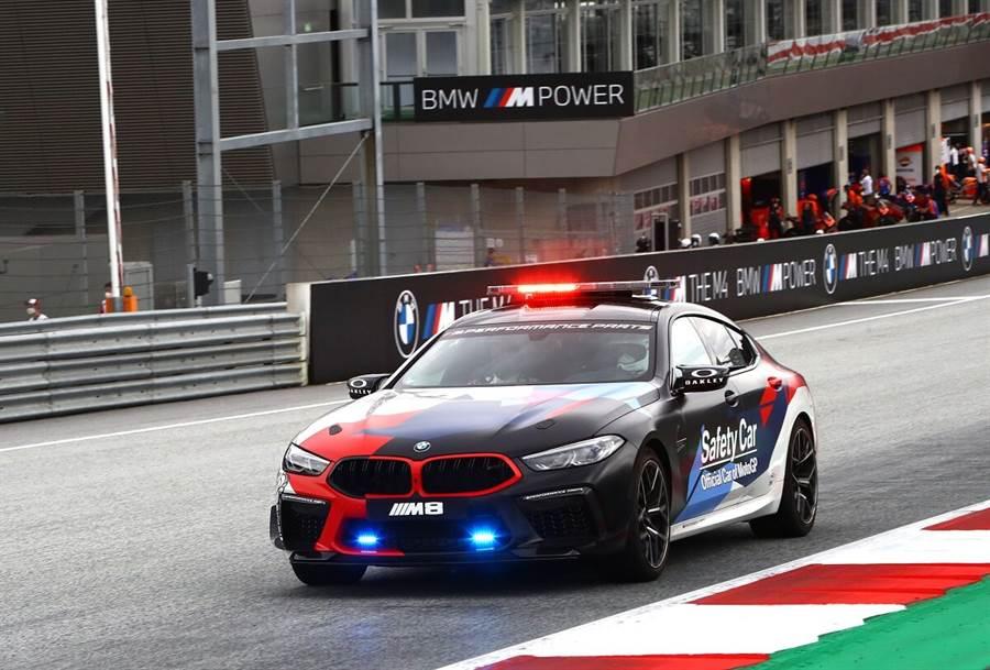 8月21至23日的BMW M Grand Prix of Styria的MotorGP分站賽事,也同時亮相了新Safety Car,其以625hp的M8 Competition Gran Coupe為基礎改造,採用了BMW M Performance零件。包括了碳纖維引擎蓋、後視鏡蓋、後尾翼和後擴散器,以及側面的通風口和方向盤,並配有Recaro運動型座椅。作為Safety Car,至關重要的還採用了全新技術的LED車頂燈條。