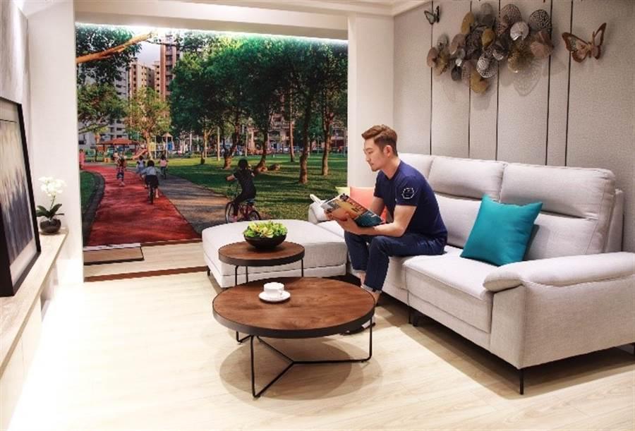 高規格格局規劃是「涵悅+」強調的優勢,三房三面採光,兩房亦擁有兩到三面的採光,能夠擁有這樣的居住品質確實非常吸引人。/崴爺提供
