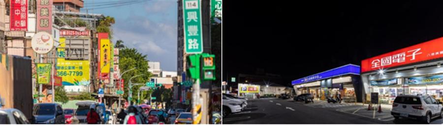 「涵悅+」走路5分鐘就可以到寶雅、全聯及7-11,附近的餐飲店也都很多選擇,生活機能完整。/崴爺提供