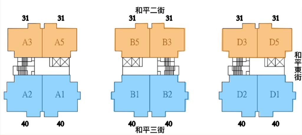 秀泰豐閣標準層示意圖