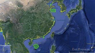 大陸在台海南北軍演 法媒曝光位置