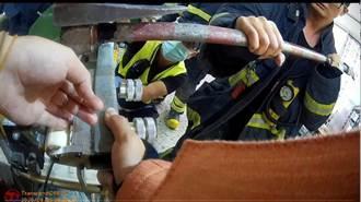 蘆洲鞋子工廠女員工左手無名指卡機台 警消到場救援
