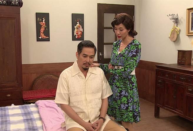 黃瑄在《生生世世》飾演林健寰的小老婆彩琴。(台視提供)