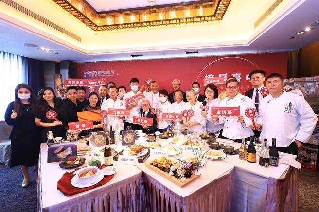 台中市長盧秀燕看好台中美食將持續大放異彩,榮獲「滿天星星」璀璨閃亮!(盧金足攝)