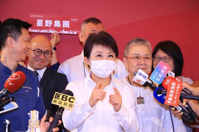 市長盧秀燕25日出席「摘星台中 米其林美食之旅座談會」時表示,台中成為全世界上榜米其林的新興城市。(盧金足攝)