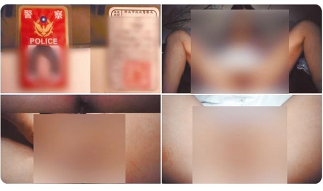 色影師蔡哲凱在twitter貼出警察服務證,誆稱有名新北市的女警向他買情趣用品。(翻攝自twitter)
