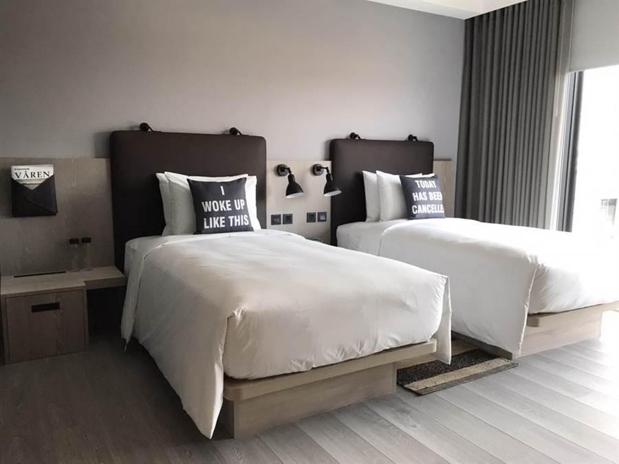 台中豐邑Moxy酒店有262間客房,有3種不同房型。(圖/豐邑機構)
