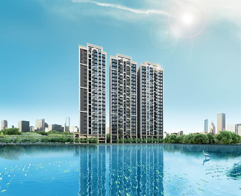 A7地王竹城甲子園外觀示意圖