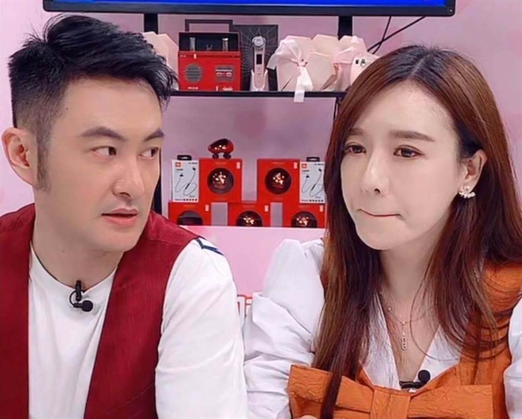 「陸版林志玲」周韋彤談情傷淚灑直播台。(取自微博)