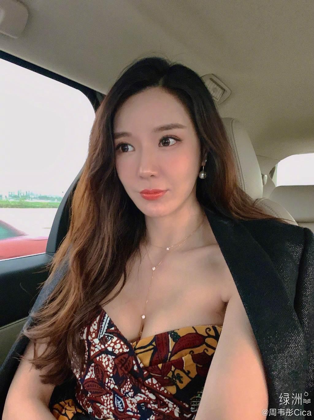 「陸版林志玲」周韋彤身材火辣。(取自周韋彤微博)